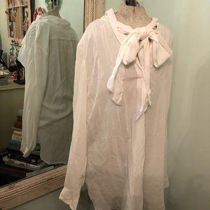 Loft Bow Blouse White